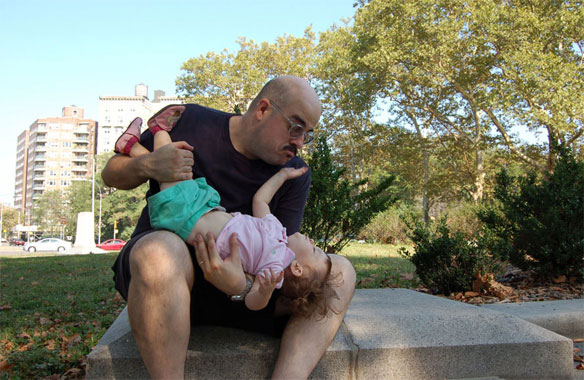 Danny Hellman and his daughter in 2007