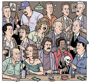 Fifteen Famous Drunks Up by Danny Hellman